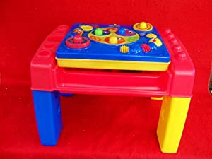 Fisher price learning developmental activity table with blocks toys games - Table activite fisher price ...