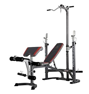 Marcy MCB880M Mid Width Bench with Lat Tower