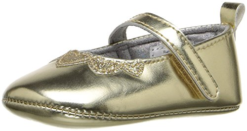 ABG Baby Girls' Metallic W/ Hearts Mary Jane, Gold, 6-9 Months W US Infant