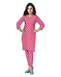 Banjara Women'S Cotton Bandhani Unstitched Dress Material (Rf22 _Pink_Free Size)