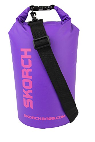 Dry Bag For Women - SKORCH Waterproof Backpacks. 10 Litre Watertight Sack for Your Gear and Valuables (Camera, Phone, Purse, Swimsuit, Wetsuit) for the Active Outdoors Lifestyle - Kayaking, Boating, Sailing, Scuba Diving, Skiing, Swimming or Camping.
