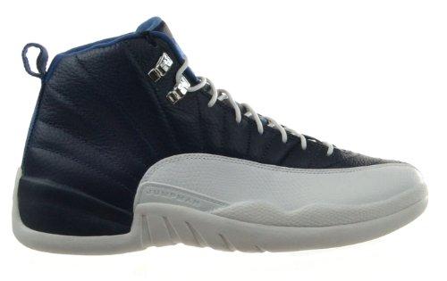 best loved 2d0bf 92c19 Air Jordan 12 Retro Obsidian Men s Shoes Obsidian University Blue White  French Blue 130690 410