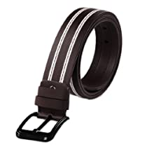 Allegra K Mens Single Pin Buckle Adjustable 45 1/2inches Adjustable Waist Belt