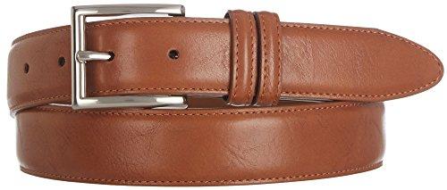 Boca Classics Mens Brown Leather Dress Belt 34 Brown