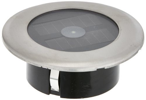 Konstsmide Solar LED Bodenspot 7626-000 (B: 11cm T: 11m H: 4cm, 2xNiMH Akku, IP44) Edelstahl, klares Glas