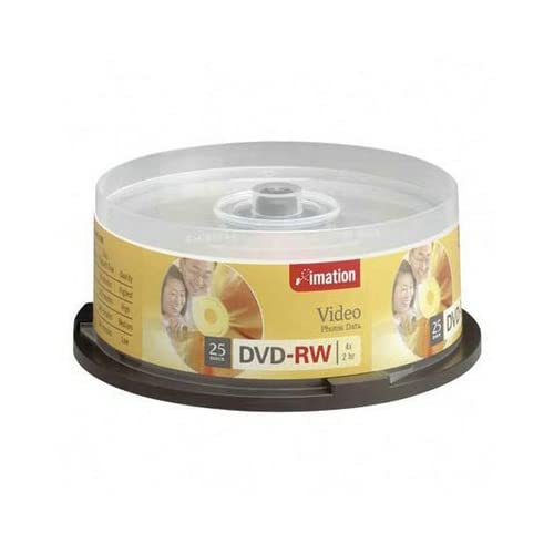 Imation Dvd Rw 4.7 Gb 4x Branded 25 Ea/Pkg High Quality Available Practical Durable Professional