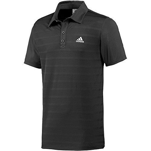 Adidas-Polo da uomo, colore: nero/bianco nero XS