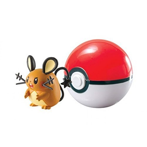 Pokemon - Poke Ball per viaggiare t18870/T18532 pokemonfigur DEDENNE nel Poke Ball