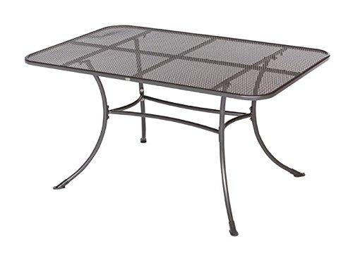Streckmetall-Tisch RIVO 90x145cm mit stabilem Rundrohrgestell, eisengrau