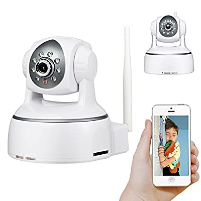 HD 2 Megapixels 1080P P2P Wifi Wireless IP Camera Pan Tilt with Plug and Play, Scan QR Code to remote view on mobiles, Two-Way Audio