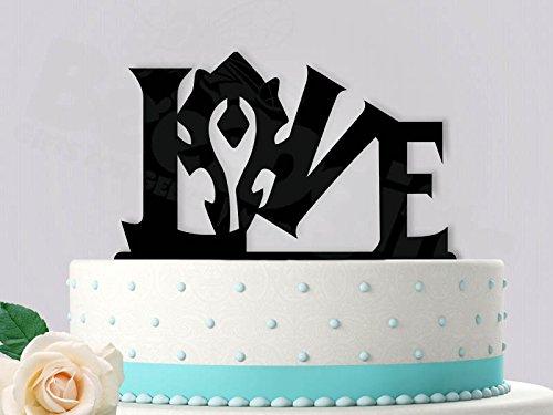 Horde WoW Inspired Wedding Cake Topper