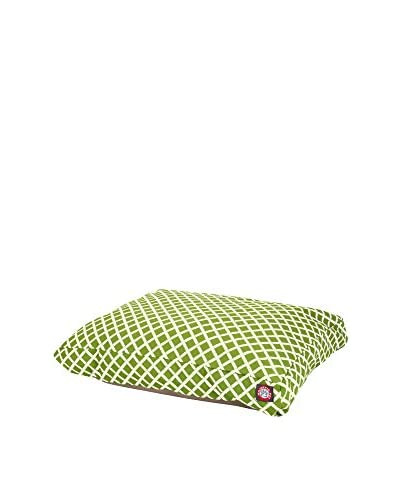 Small Rectangle Pet Bed, Sage Bamboo