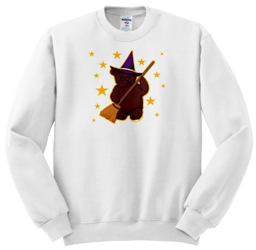 Art of Jolie E Bonnette Misc Designs - Witchy Bear Pagan Kids Witch Cute Teddy Bear - Sweatshirts