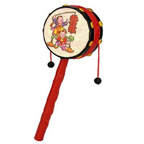 1pc-Red-Festival-Rattle-Drum-Percussion-Childrens-Musical-Toy-Baby-Hand-Fun-Gift