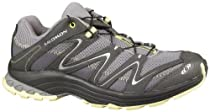 Salomon Womens Trail Score Pewter/Autobahn/Past Synthetic-And-Mesh Running 10
