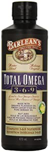 Barlean's Organic Oils Total Omega 3-6-9, Lemonade Flavor, 16-Ounce Bottle