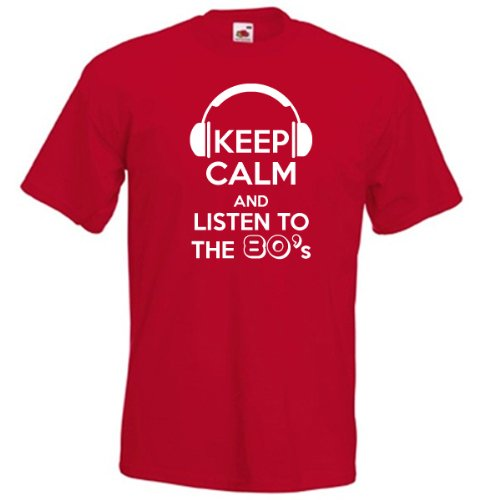 Keep Calm and Listen to the 80s Tee - S to XXL