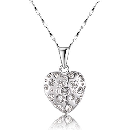 city-ounarmesdames-925-sterling-silver-white-diamond-coeur-pendentif-collier-18-boite-de-chaine-avec