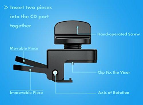 USTEK® GPS Sun Shade Glare Shield Sun Visor Screen Protector for Universal  Car GPS Applicable for Most Sedans and SUVs