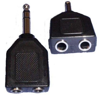 Vaster Audio 6.4 Mm Stereo Splitter Adapter (1 Male To 2 Female)