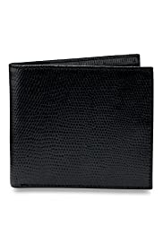Billfold Coated Leather Lizardskin Design Wallet