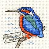 Mouseloft Mini Cross Stitch Kit Kingfisher Stitchlets Collection