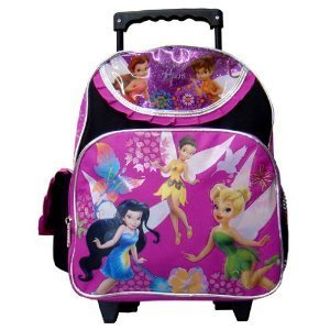 Tinkerbell Small Backpack - Disney'S Fairies Small Rolling School Bag
