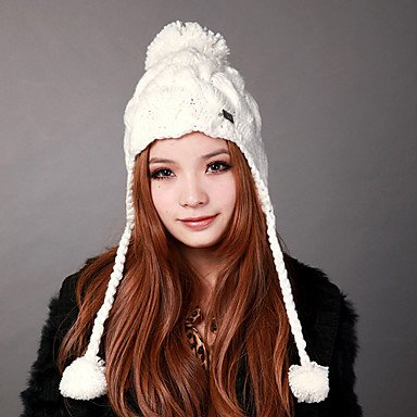 Zcl Deniso-1192 Fashion Knit Winter Ear Flap Hat(Multi-Color Available) , Light Yellow
