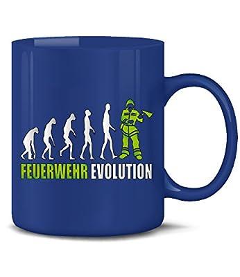 FEUERWEHRMANN - FEUERWEHR EVOLUTION KaffeeBecher - Teetasse - Keramik Becher in div.Farben