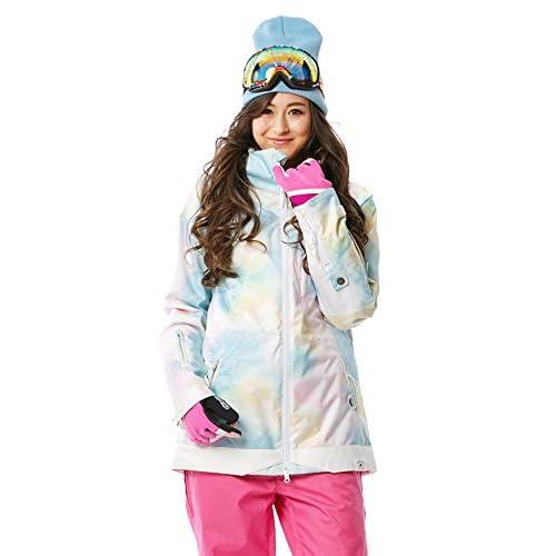 16'新作 43DEGREES スノーボードウェア スキーウェア スノボウェア レディース上下セット 41. Tie dye B × Pink Mサイズ