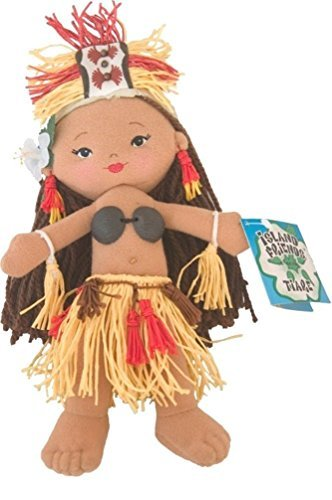 [8.5 Soft Tahitian Dancer Doll - Tiare by Island Friends] (Tahitian Dancers Costumes)