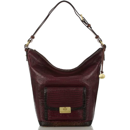 Oxford Shoulder Bag<br>Tri-Texture Oxblood