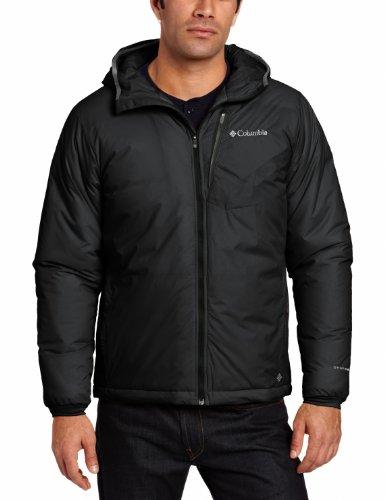 Columbia Padded Jacket Mens Premier Packer Hoodie Black