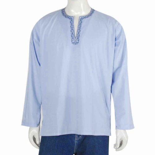 Boys Long Sleeve Casual Cotton Shirt Kurta India Chest M (40 inches) Chest 102 Cms