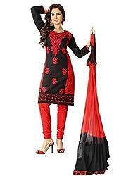 Venisa Pure Cambric Cotton Black Color Salwar Suit Dress Material