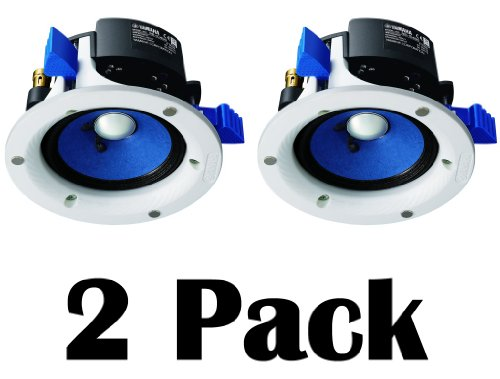 "Yamaha Custom Easy-To-Install In-Ceiling Full Range Open Back 90 Watts Mini Speaker Set (Pair Of 2) With A 4"" Double-Layered Cone Woofer"