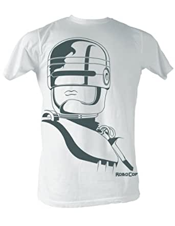 Robocop - Roboface Mens T-Shirt In White, Size: XX-Large, Color: White