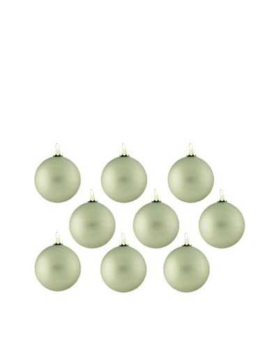 Artisan Glass by Seasons Designs Set of 9 Solid Glass Ornaments, Pewter Matte As You See