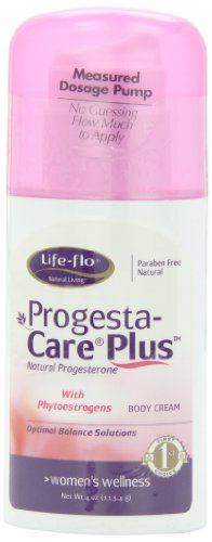 Life-Flo Progesta-Care Plus Natural Progesterone Body Cream, Menopause Solutions, With Phytoestrogens , 4 Oz (113 G)