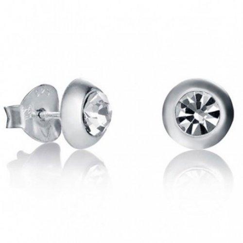 Pulsante orecchini d'argento Viceroy zirconi 5012E000-50 donne