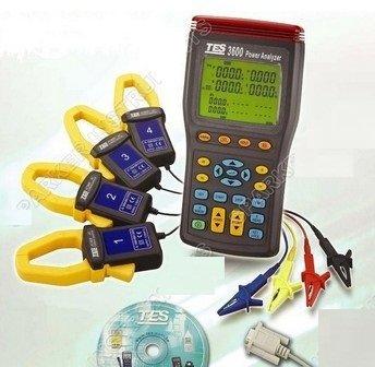 Gowe® 3P4W Power Quality Analyzer Tes-3600, Tes-3600 Three 3 Phase Power Factor Meter Analyzer Tester True Rms W/Software