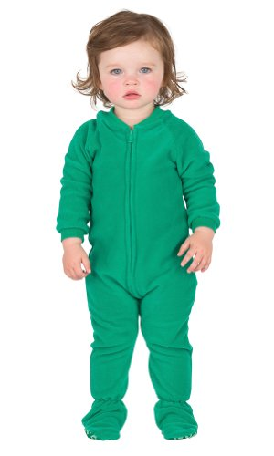 Footed Pajamas Forrest Green Infant Fleece - Medium front-62838