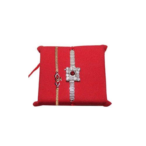 mandala-creations-rakhi-set-of-2-premium-stone-rakhi-set-with-haldirams-soan-papdi-set