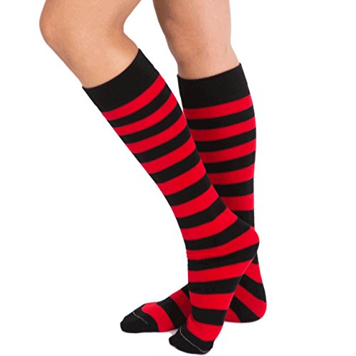 Chrissy's Socks Women's Striped Knee High Socks