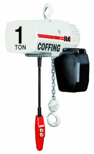 Coffing Jlc Series Single Speed Electric Chain Hoist With Hook Mounted, 2000 Lbs Capacity, 15' Lift Height, 16 Fpm Lift Speed, 1Hp, 208V/60Hz