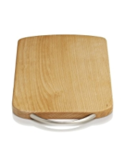Small Beech Chopping Board with Metal Handle
