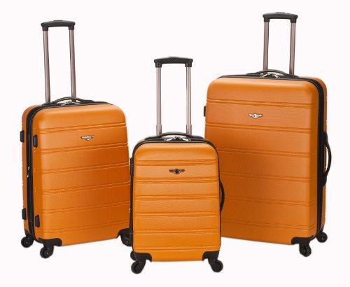 Rockland Luggage Melbourne 3 Piece  Set, Orange, Medium image