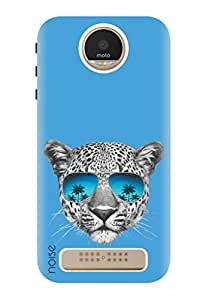 Noise Designer Printed Case / Cover for Motorola Moto Z Play / Animated Cartoons / Leopard With Sunglasses
