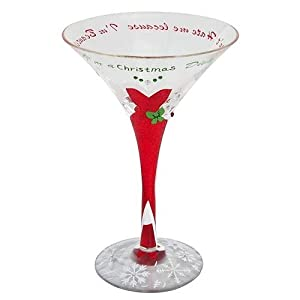 painted glassware lolita martini glass