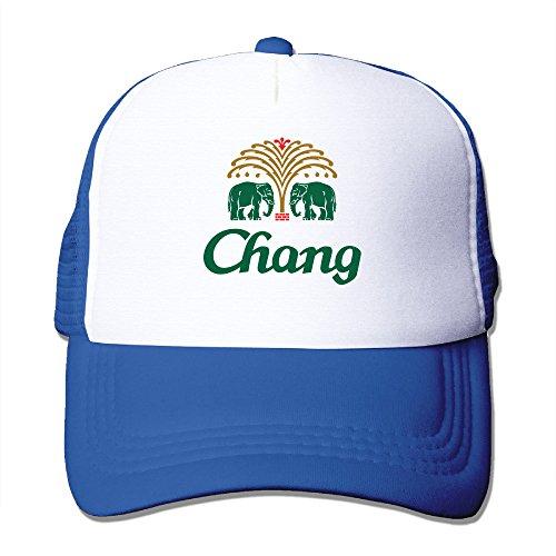 mans-chang-beer-flat-billed-trucker-cap-with-mesh-back-adjustable-hat-caps-royalblue